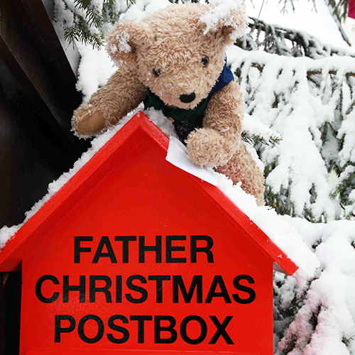 Binky Bear Posts his letter to Father Christmas
