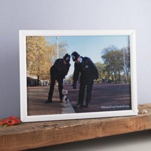Binky Bear and the policemen print