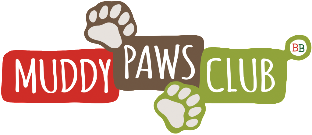 Binky Bear muddy paws club logo