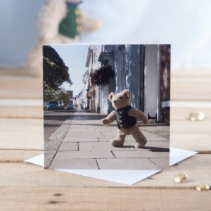 Binky Crosses The Broad Street Greetings Card