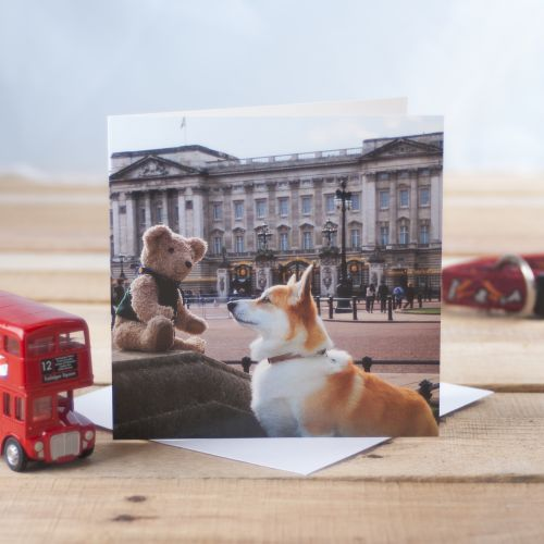 Binky & Rudi at Buckingham Palace Greetings Card