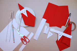 How To Make Binky Bear's Father Christmas Napkins