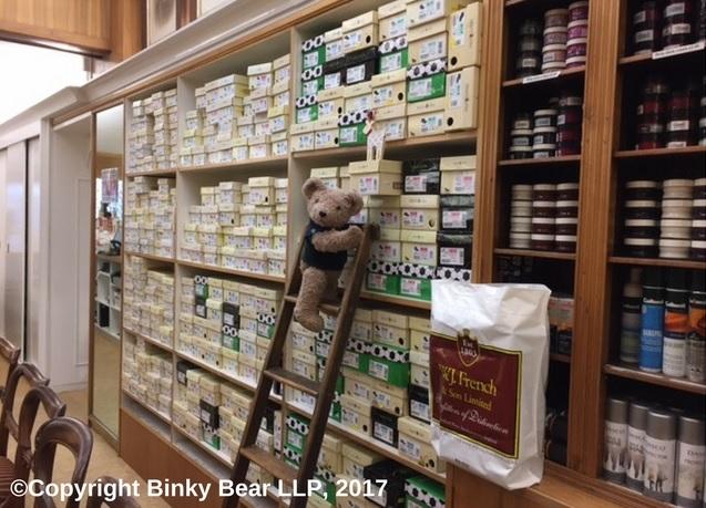 Binky Bear Explores French's Shoe Shop Southampton