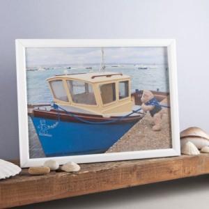 Binky Bear and the blue boat print