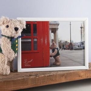 Binky Bear at Trafalgar Square print