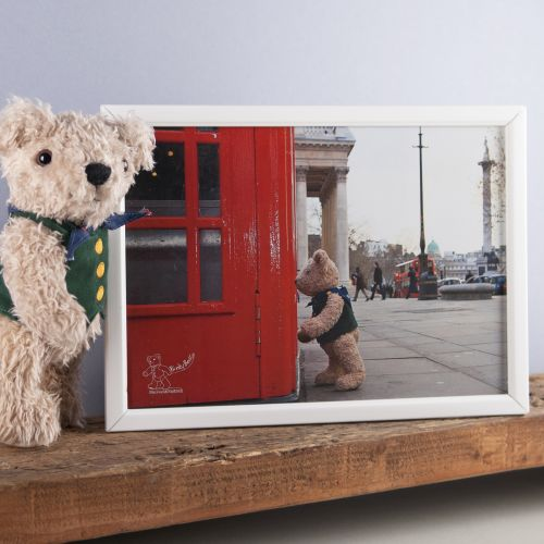 Binky Bear at Trafalgar Square print