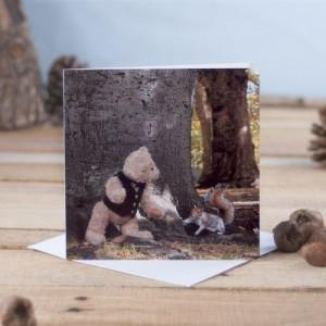 Binky & Squirrel Green Park, London Greetings Card