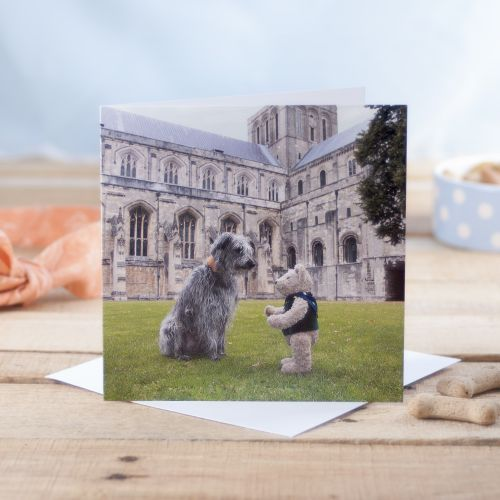 Binky & Squirt Winchester Cathedral Greetings Card