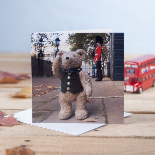 Binky & The Soldier London Greetings Card