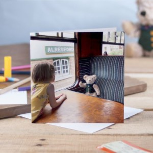 Binky and Katy on The Watercress Line Greetings Card