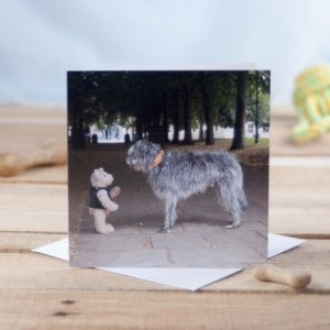 Binky and Squirt in Winchester Greetings Card