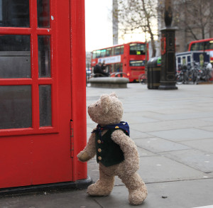 London Bus Times and Binky Bear