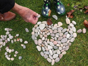 Make a Pebble Heart