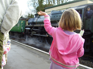 The Watercress Line Waving at the Train