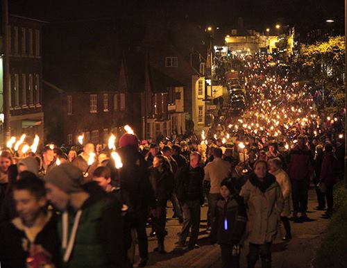 Binky Bear Blog Bonfire Night November 5th Torchlight Procession