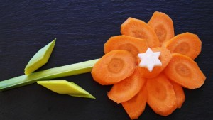 carrots in the shape of a flower